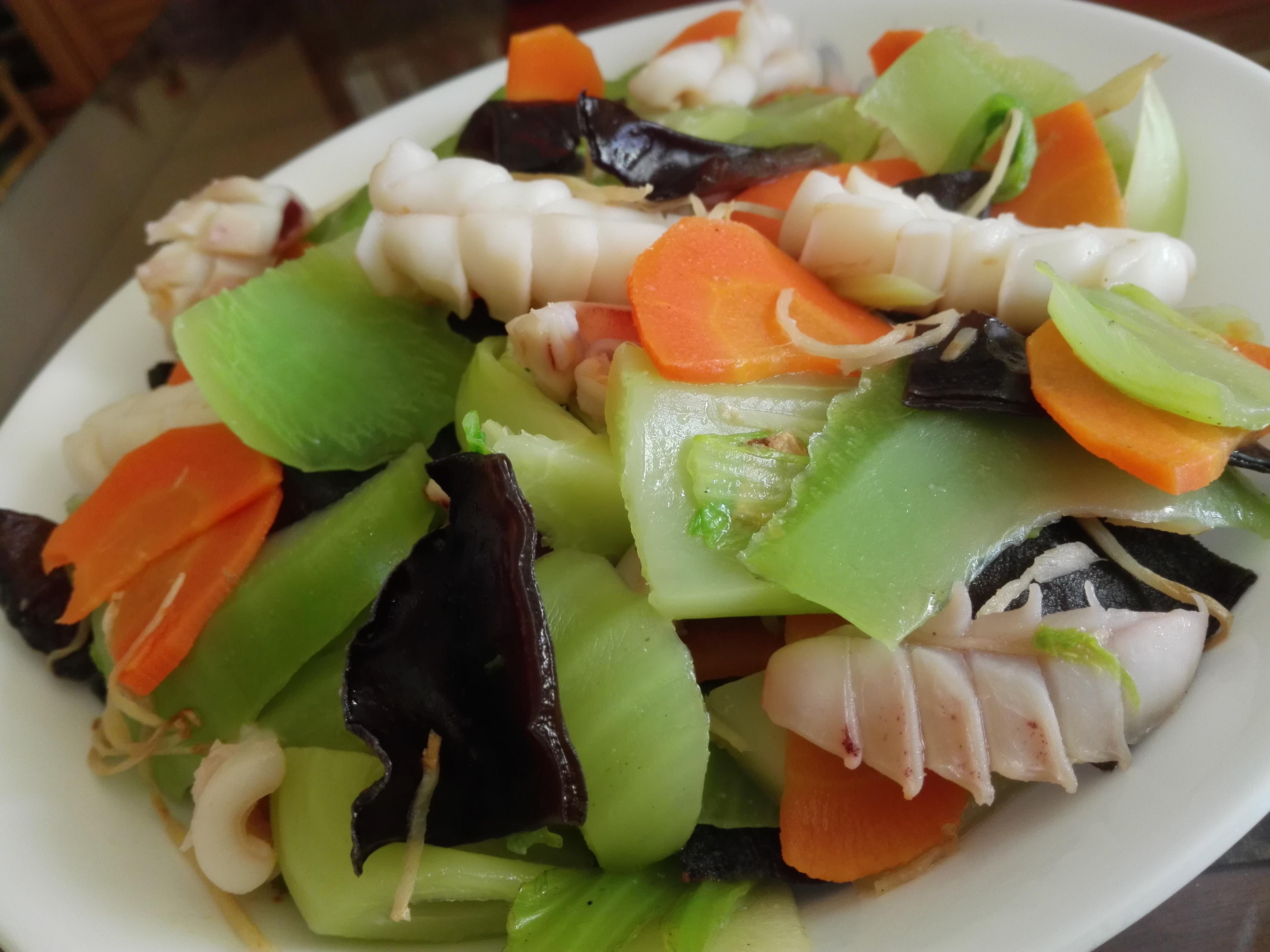 魷魚炒芥菜