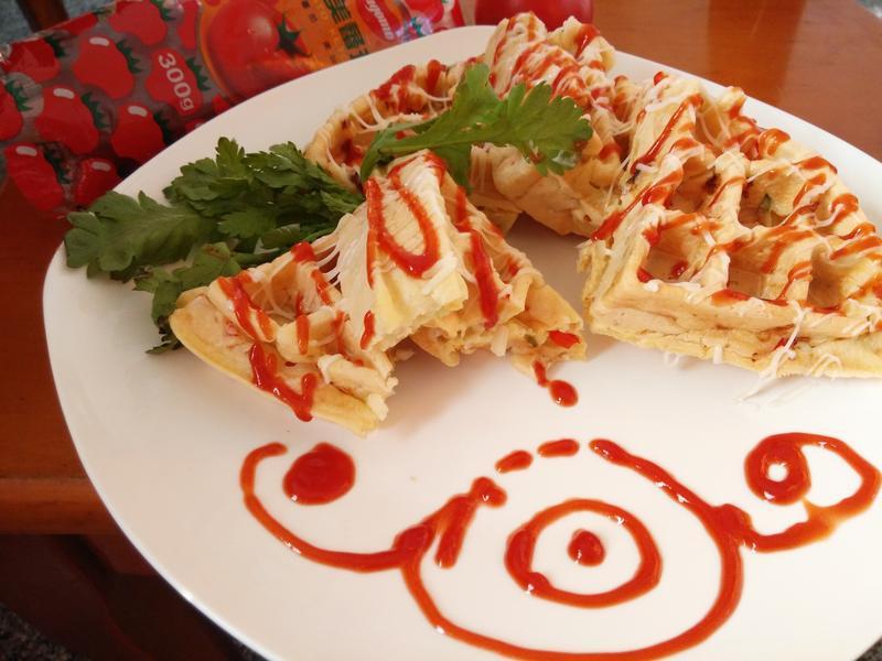 蔬菜鬆餅--蕃茄醬懶人料理