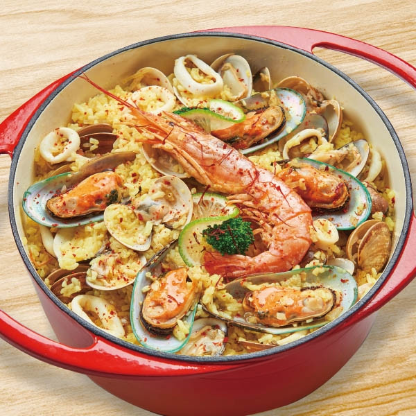 鑄鐵鍋西班牙海鮮燉飯