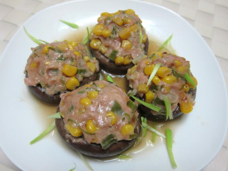香菇鑲肉玉米蒸