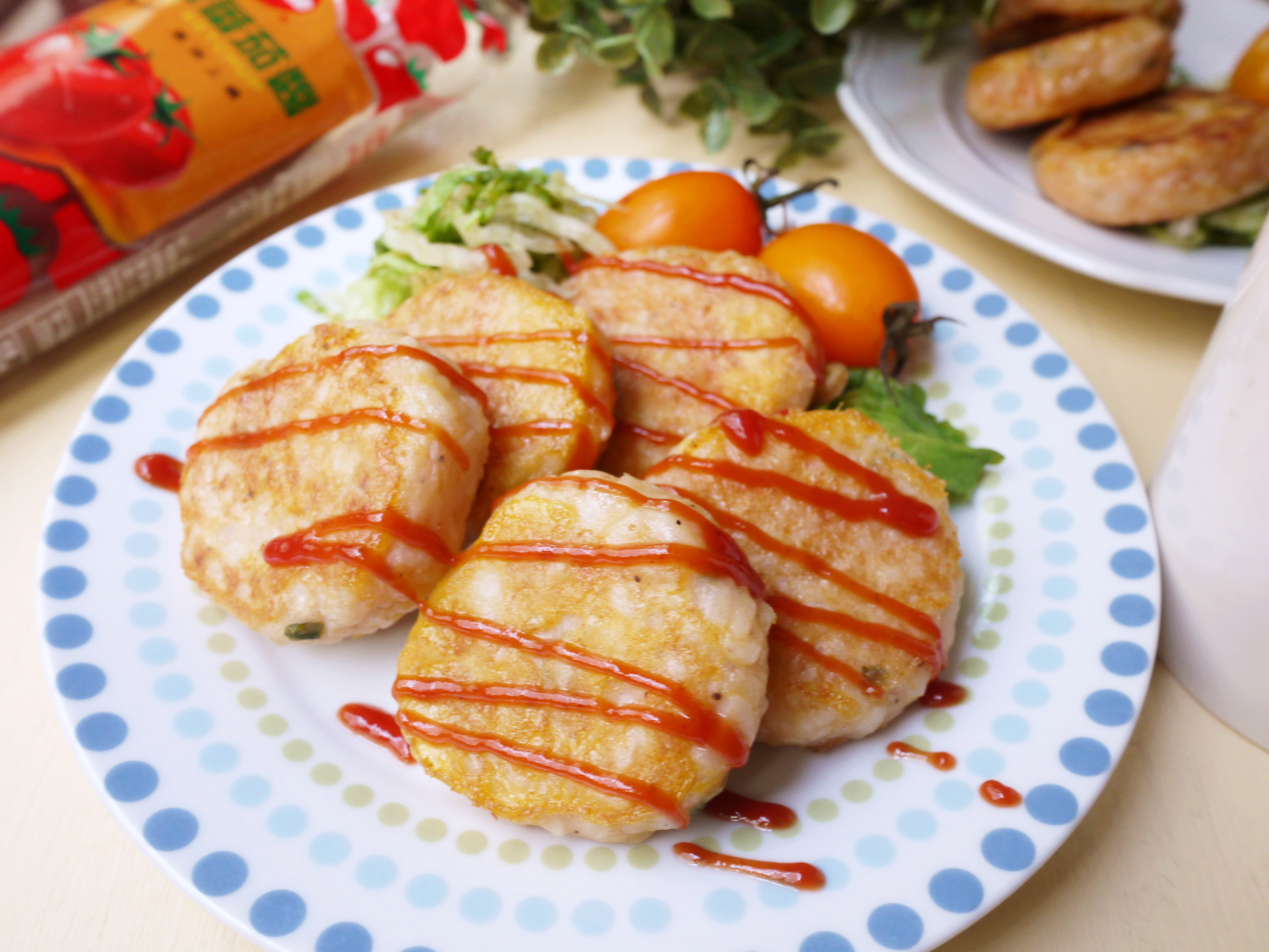 雞蛋薯泥煎餅_蕃茄醬懶人料理