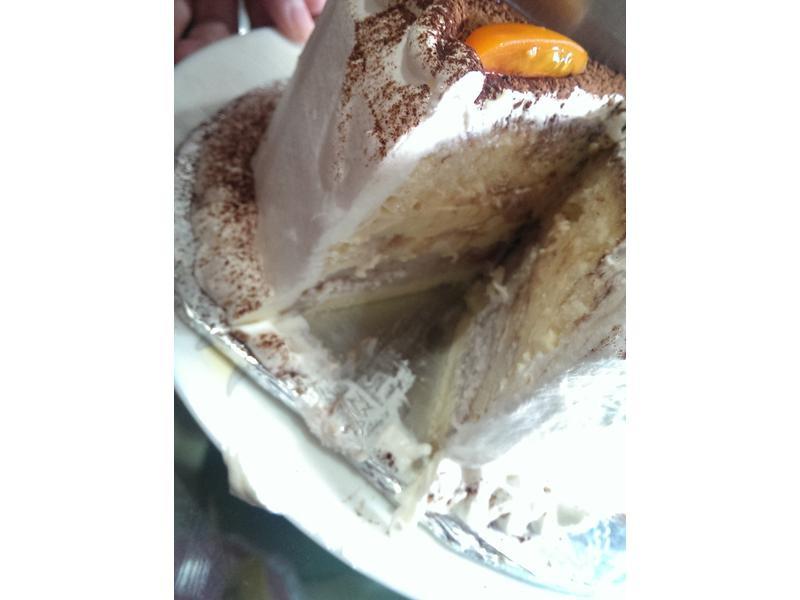 布丁芋泥奶油蛋糕