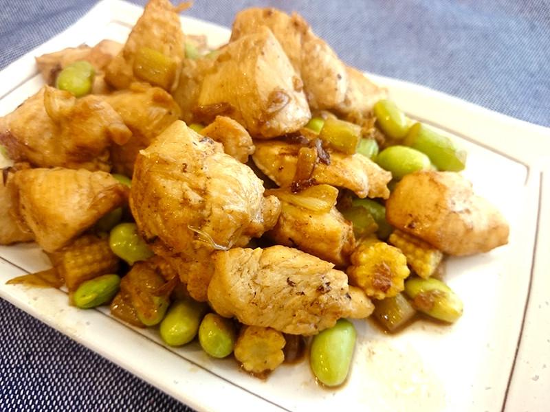 有心食譜:玉米荀炒雞丁