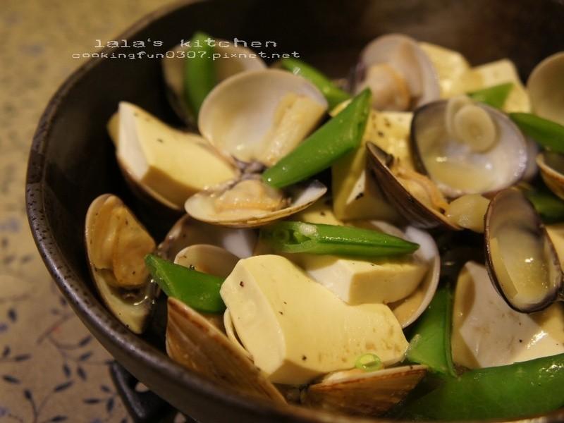 [零油煙]白酒蒸蛤蠣豆腐