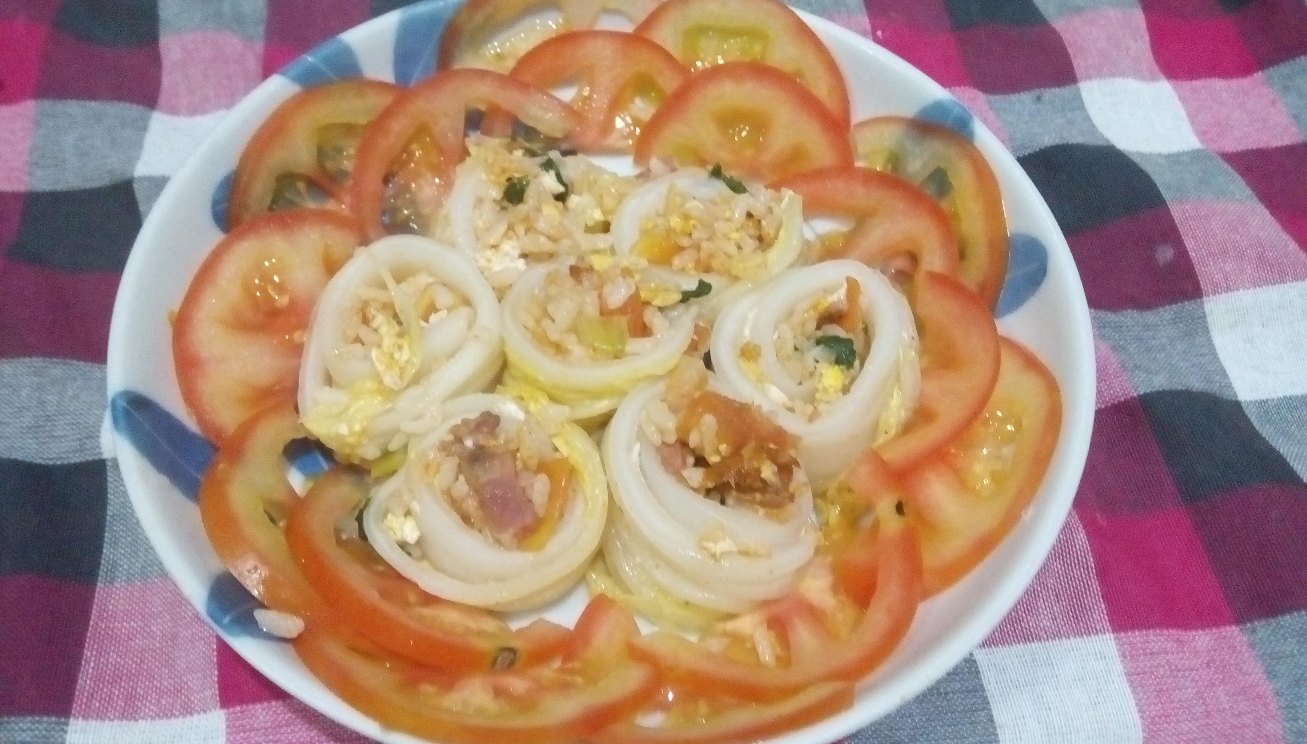 臘肉蕃茄飯白菜卷(蕃茄醬懶人料理)