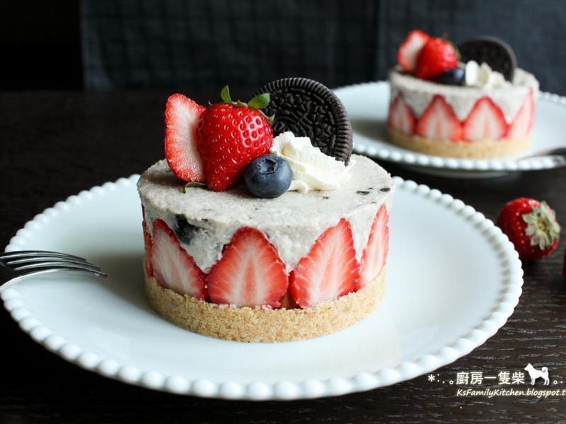 草莓Oreo乳酪慕斯蛋糕(免烤箱)