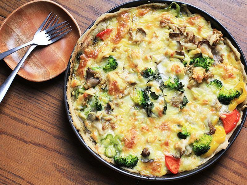 野菇蔬菜披薩 · 豐年農場
