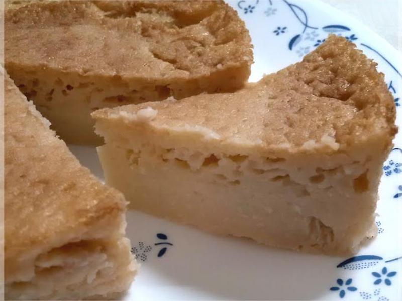 蜂蜜優格雙層蛋糕♥簡易的偽。魔法蛋糕