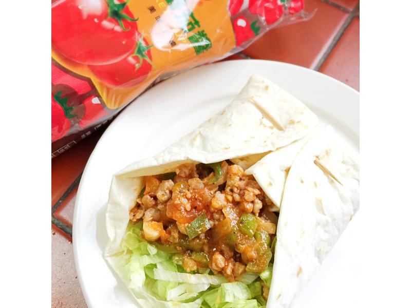 台灣混血兒墨西哥捲餅 蕃茄醬懶人料理