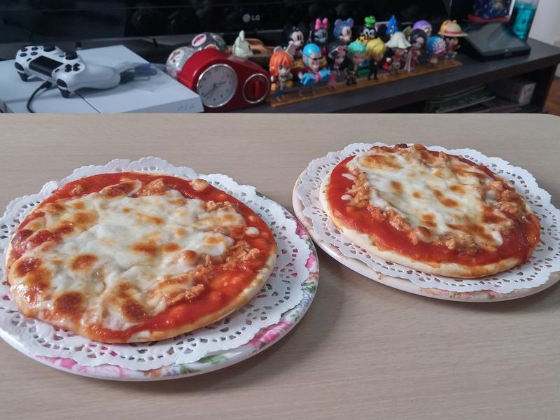 簡易迷你芝士吞拿魚pizza