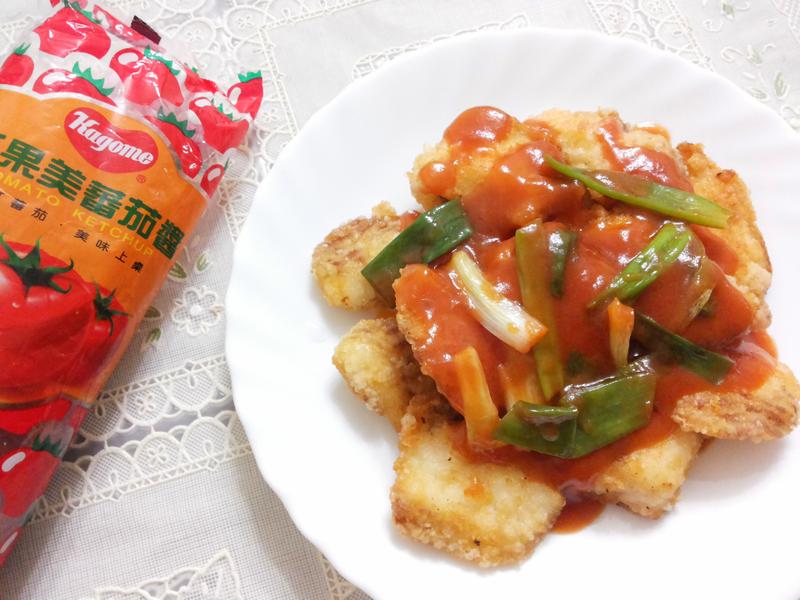 養樂多蔥燒糖醋魚片【蕃茄醬懶人料理】