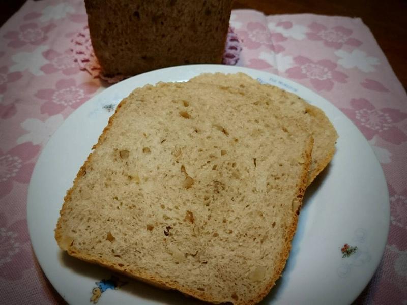 鮮奶茶核桃吐司(麵包機)