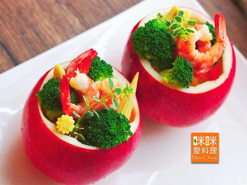 Mimi♥鮮蝦蘋果沙拉【全聯料理王大賽】