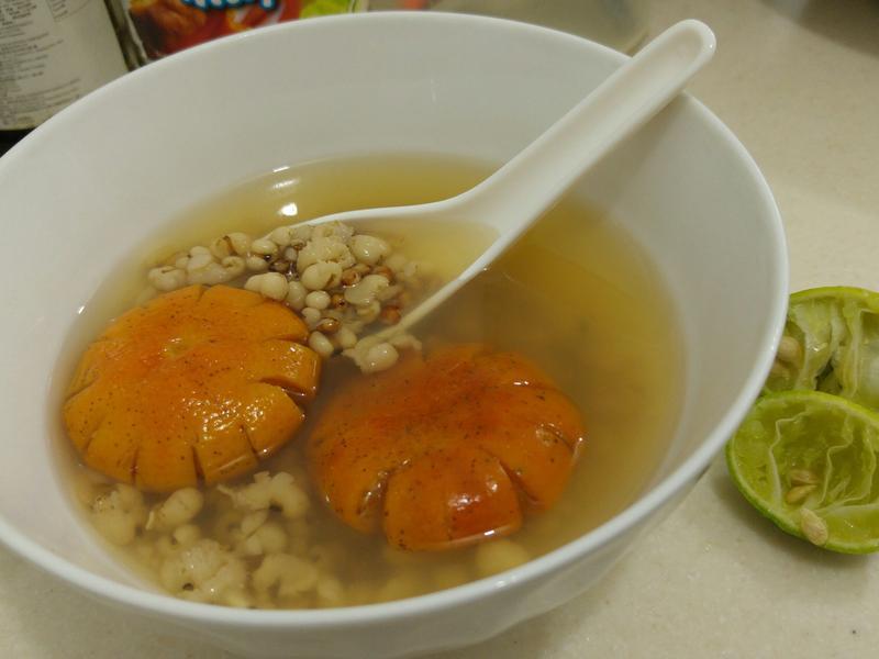 電飯煲 青檸檬 紅薏米 水 高纖去水腫