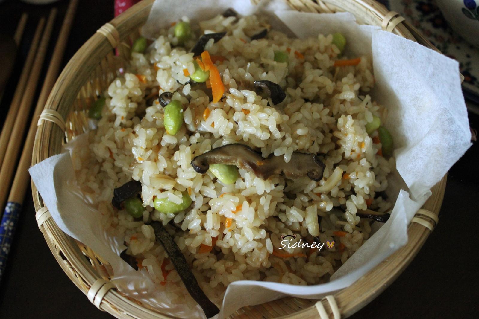 干貝蔬菜炊飯