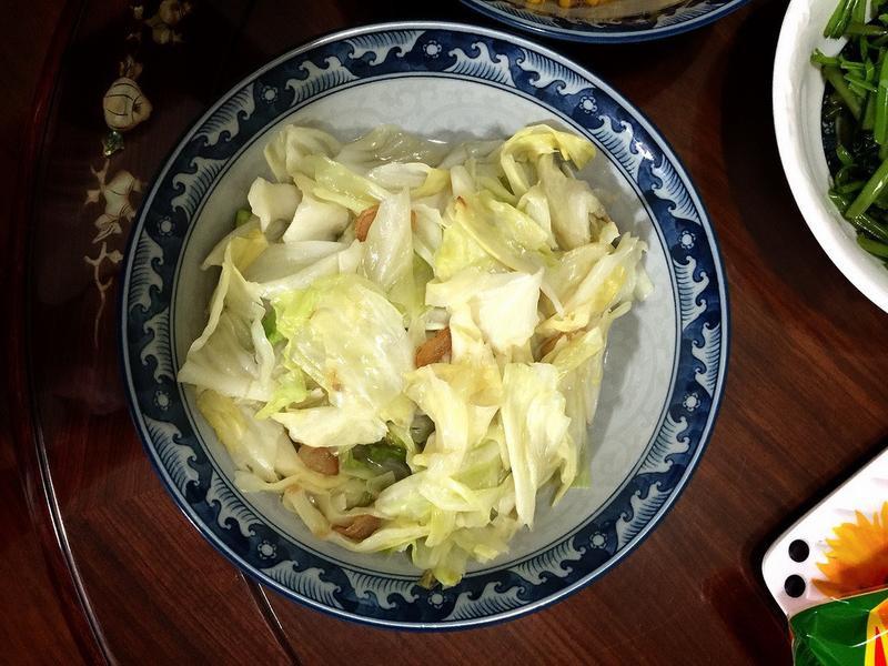 香噴豬油蒜炒高麗菜