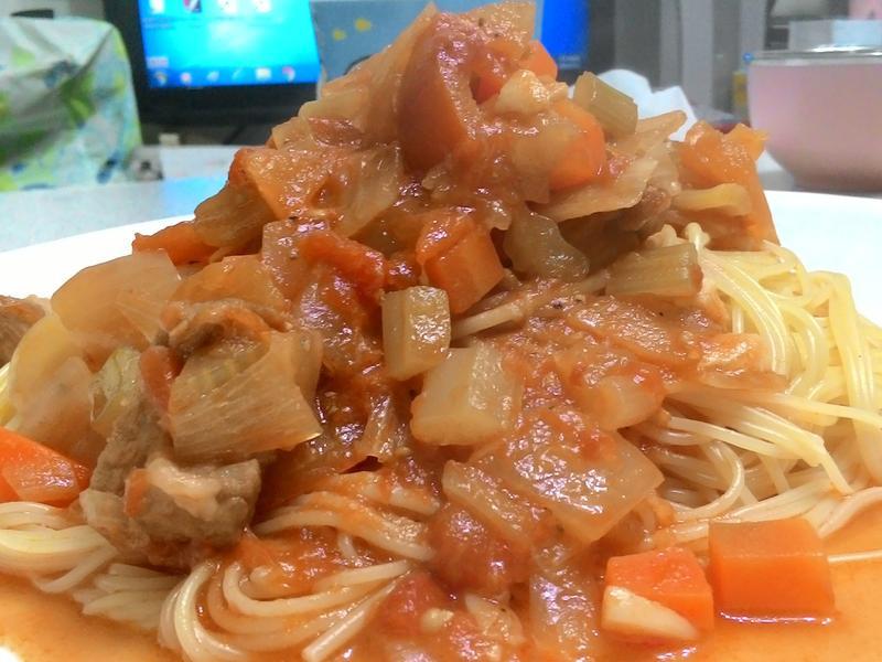 蕃茄燉梅肉佐天使髮絲麵【全聯料理王大賽】