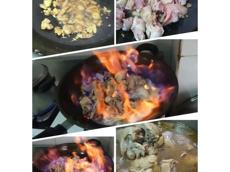 老薑麻油燒酒雞