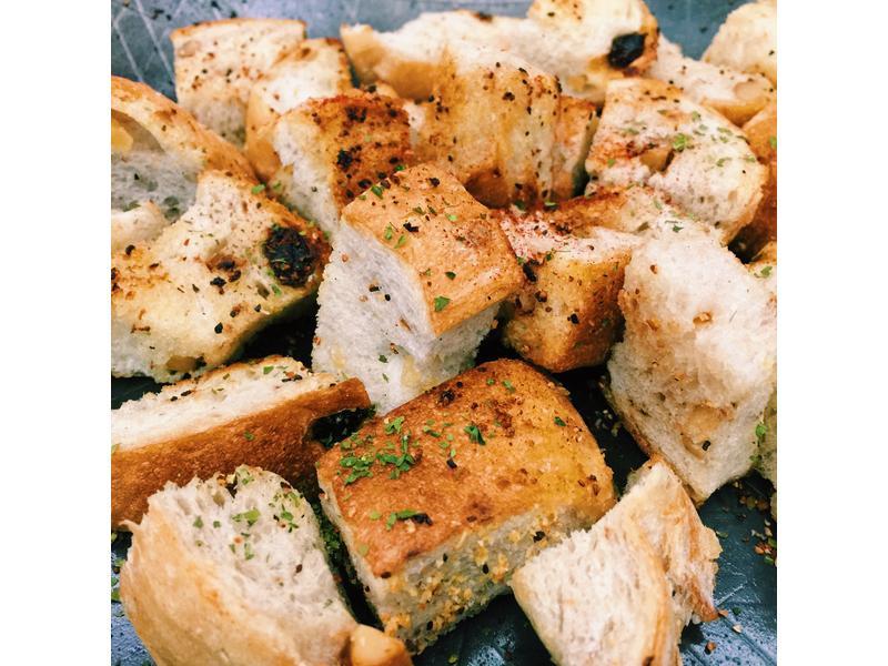 平底鍋香煎脆麵包