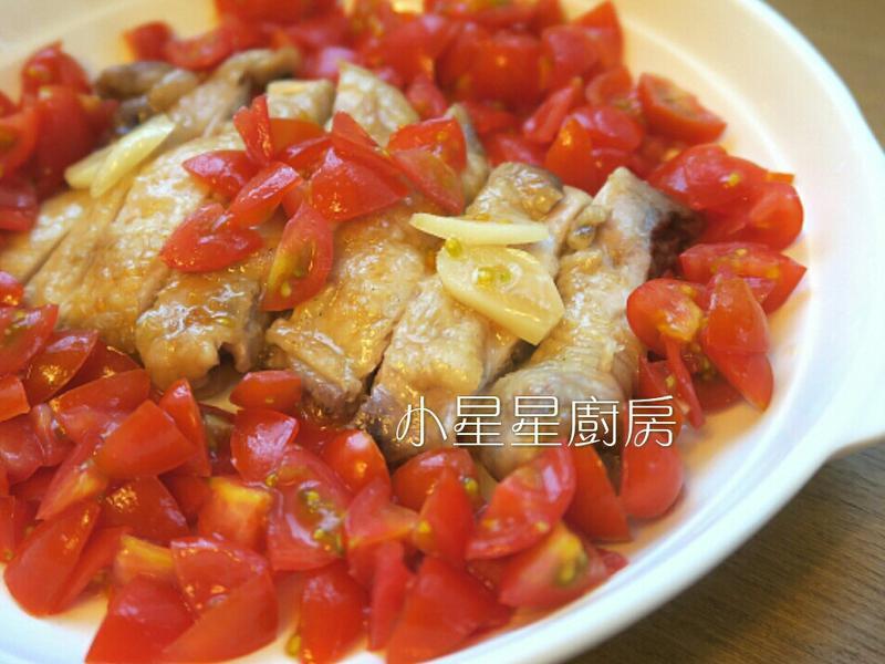 蒜油蕃茄雞腿排(水波爐/瓦斯爐)