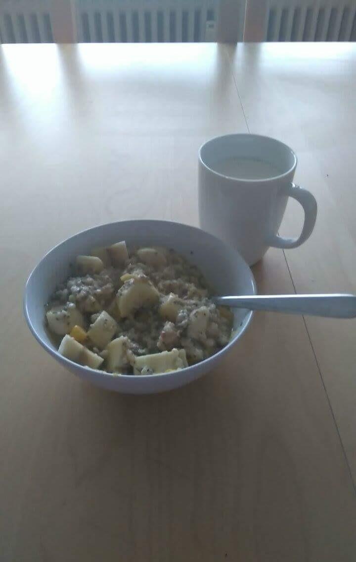低卡快速早餐-微波爐版水果燕麥粥