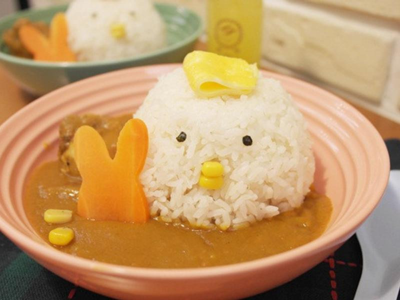 「小雞咖哩濃湯飯」咕咕咕~好療癒!!