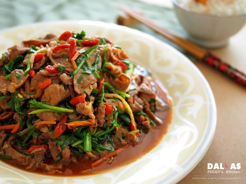 《Peggy廚房》枸杞韭菜炒羊肉