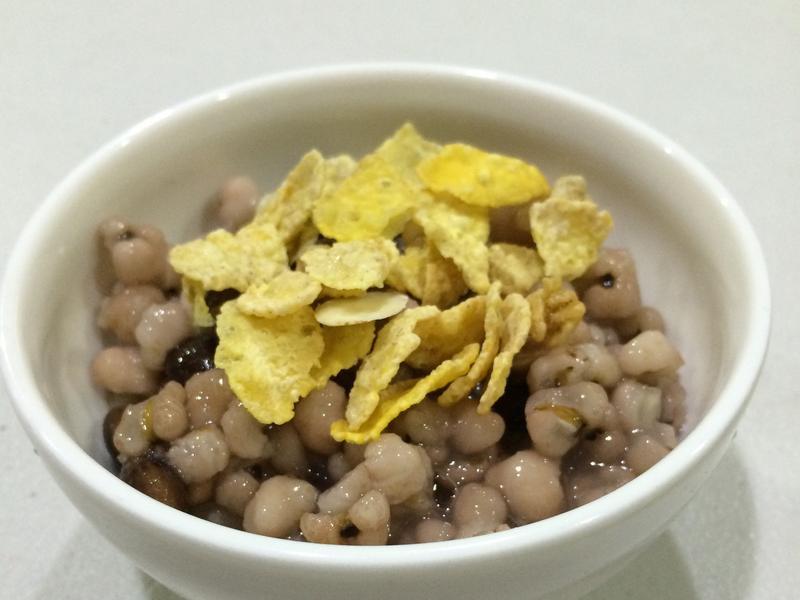 健康美白玉米片粥