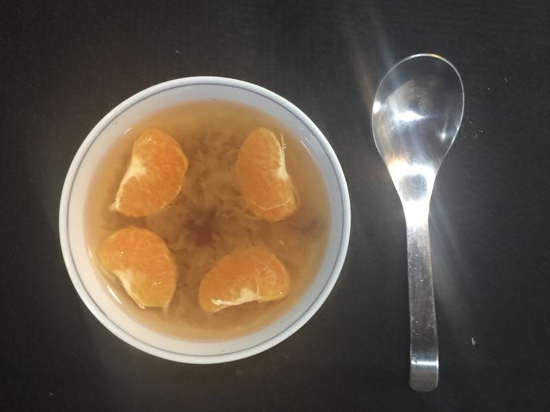養顡抗老治熱咳的銀耳橘子湯