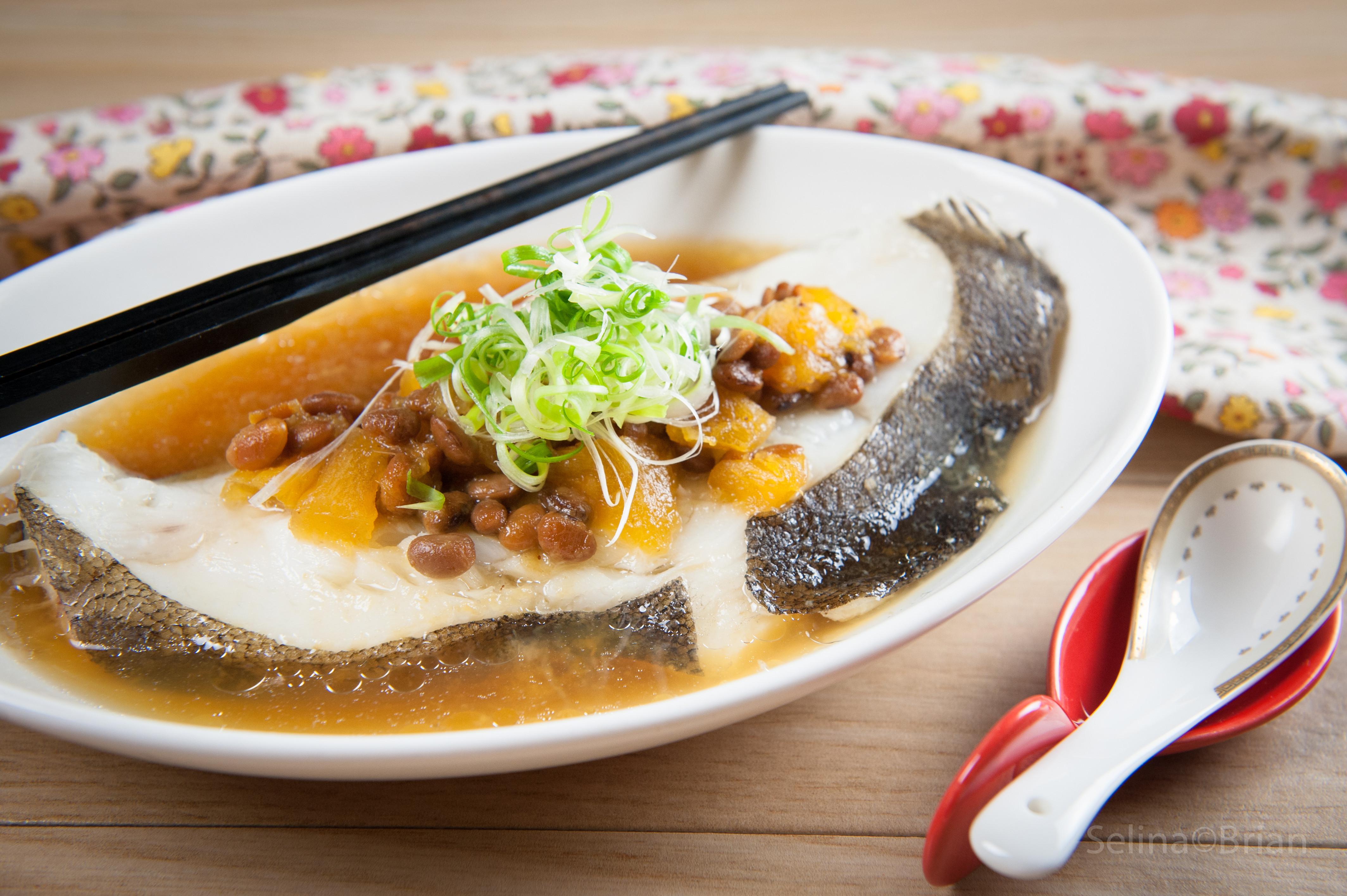 鳳梨黃豆醬蒸鱈魚@Selina Wu