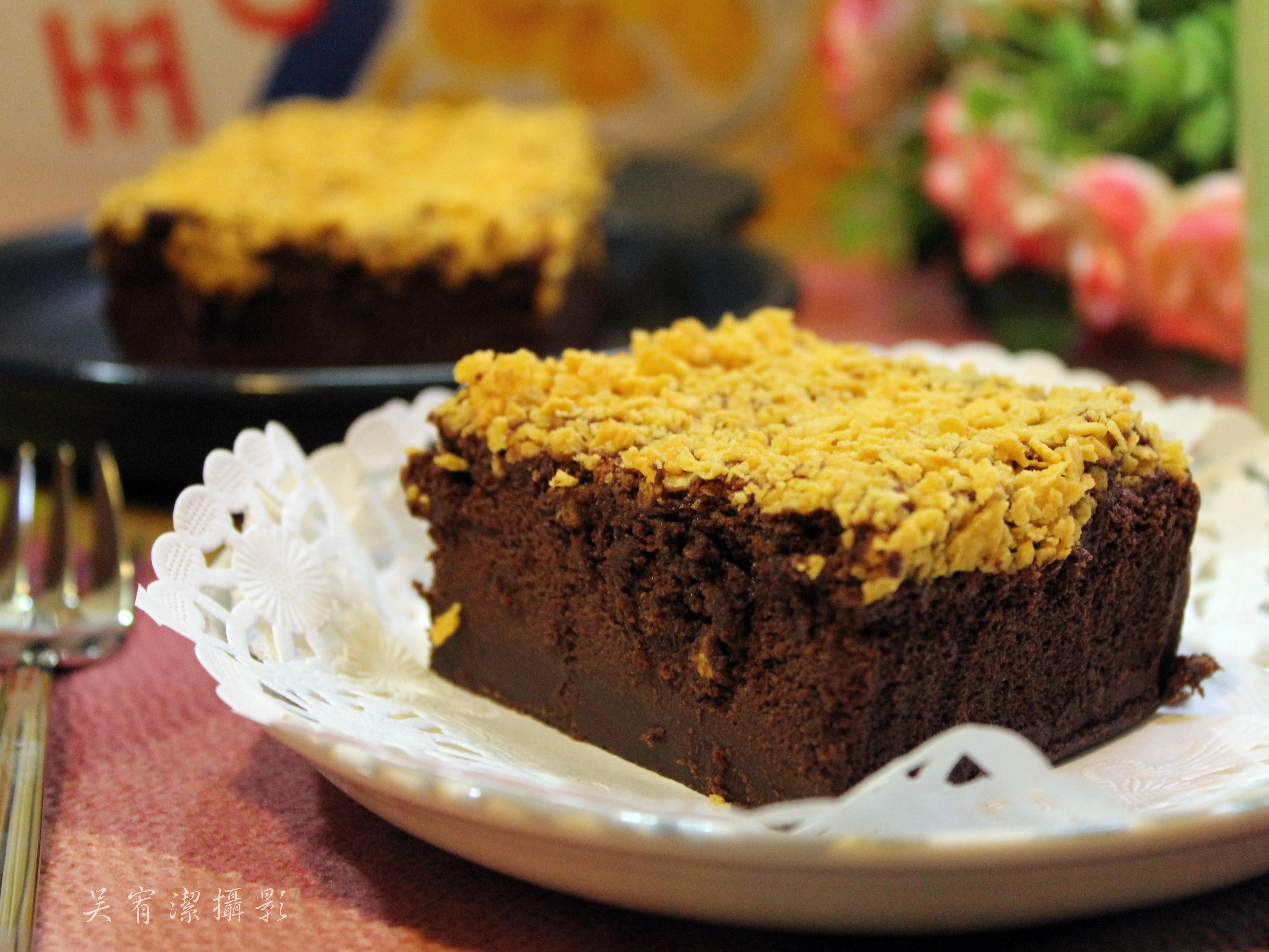 玉米脆片巧克力蛋糕【雀巢玉米脆片】