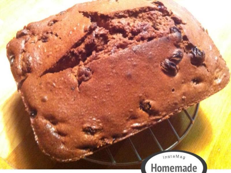 可可蘭姆葡萄乾磅蛋糕[小烤箱]