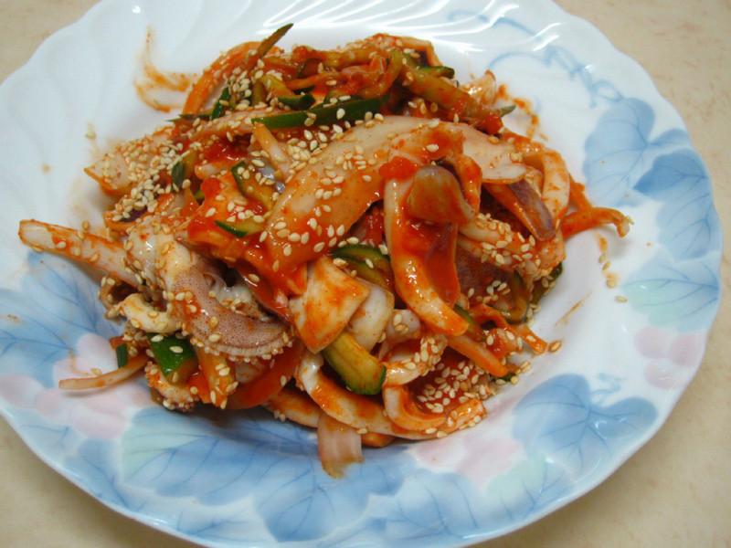 ♥我的手作料理♥ 涼拌辣醬魷魚