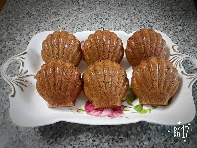 香濃黑芝麻瑪德蓮蛋糕