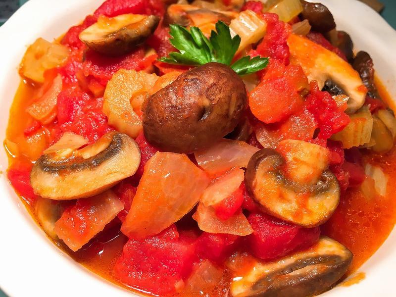 義式茄汁燉蘑菇