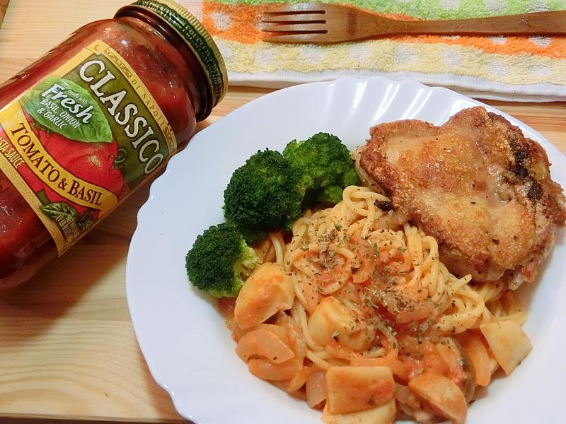 雞腿蕃茄義大利麵_CLASSICO義麵醬