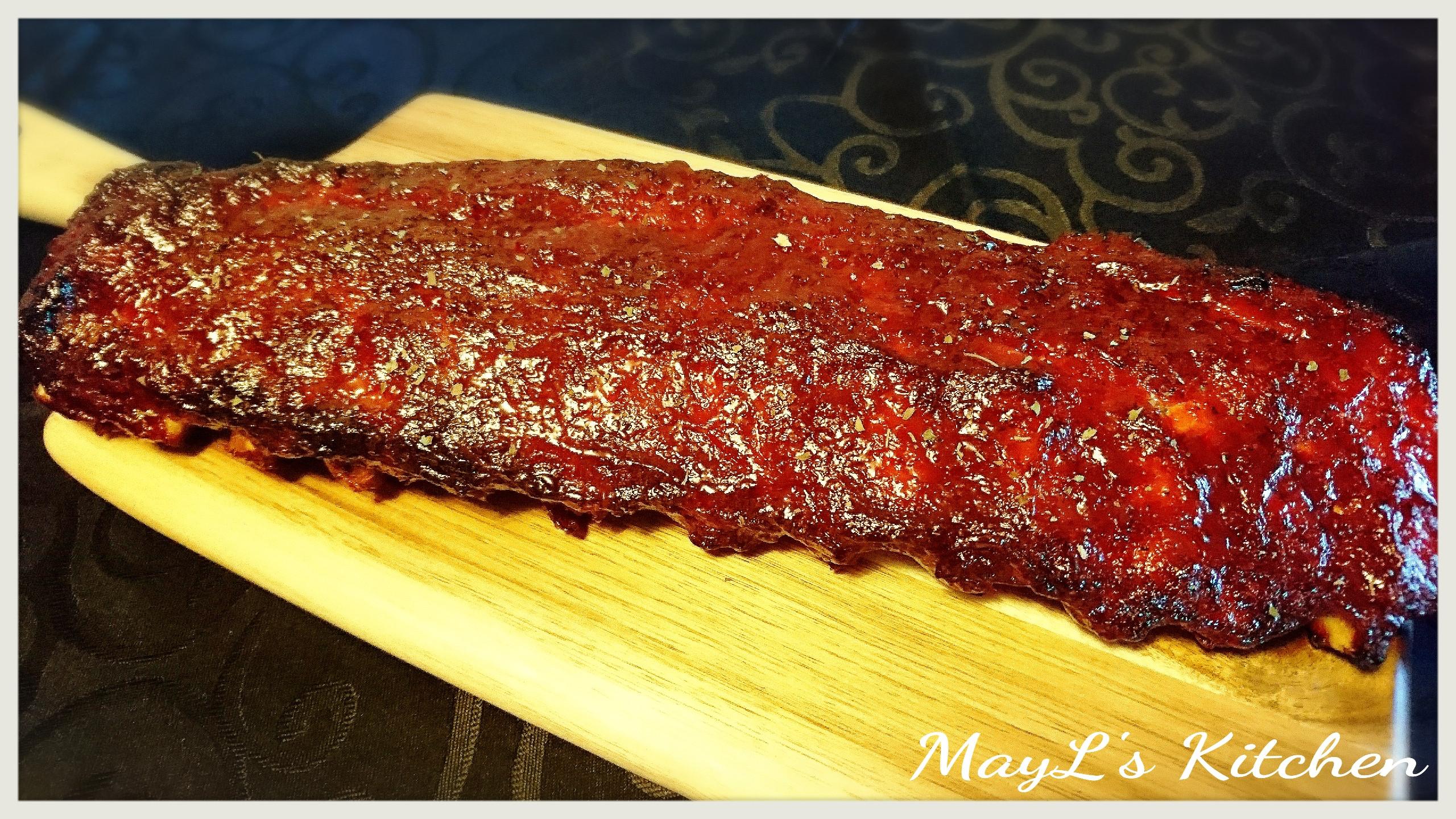 美式烤豬肋骨 BBQ Pork Ribs