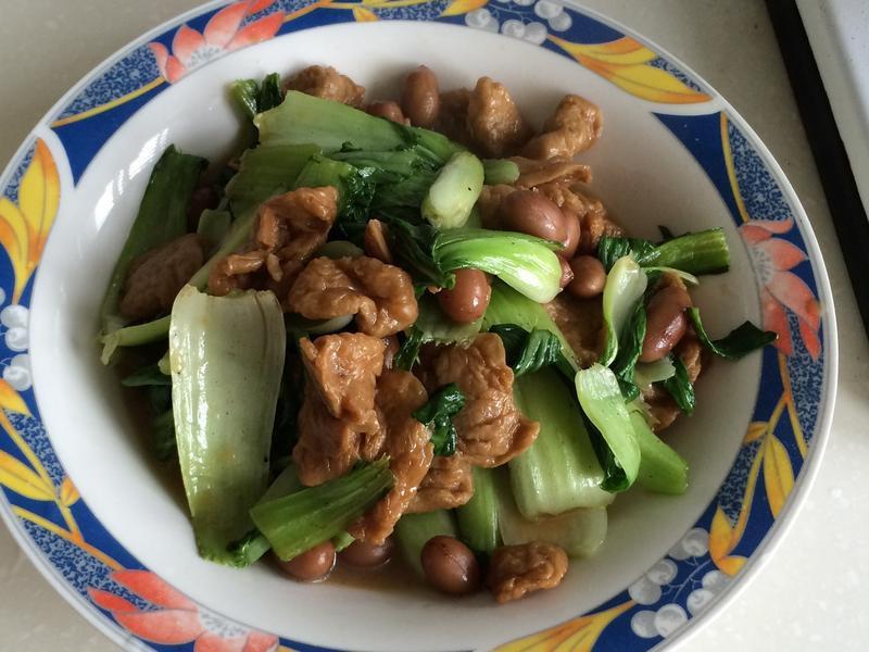 土豆麵筋青江菜