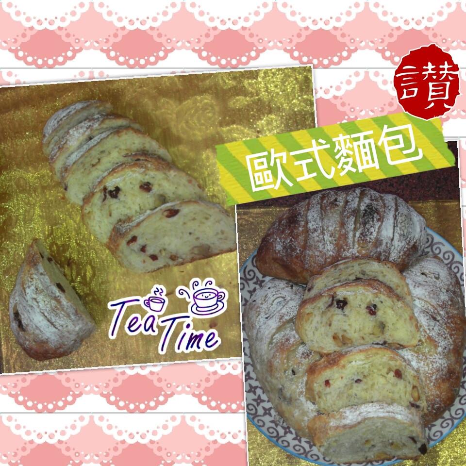免揉(脆皮軟式)核桃蔓越莓鄉村麵包