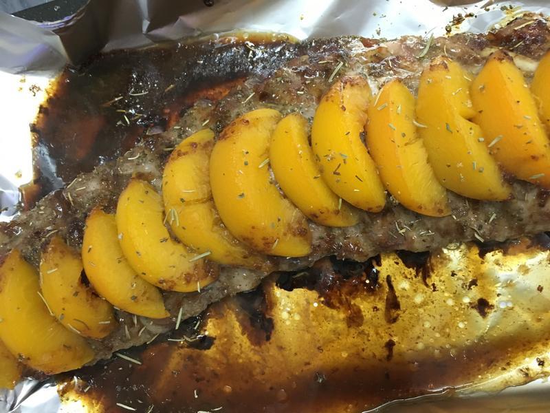 韓式燒烤醬蜜桃豬肋骨