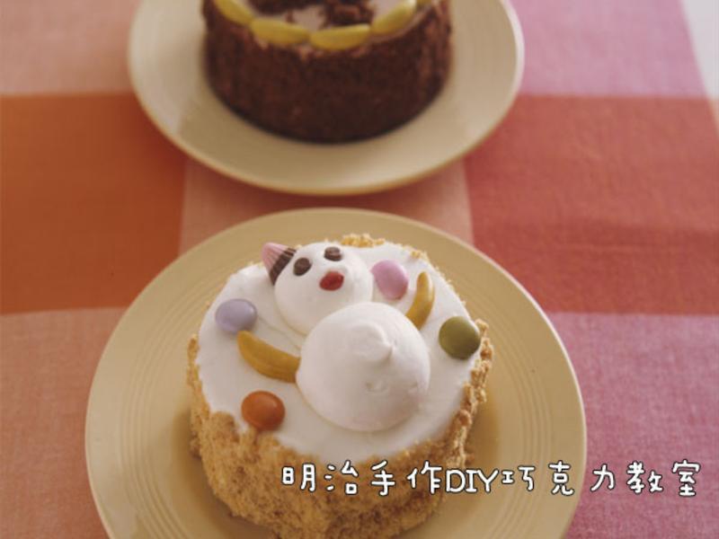 雪人薑餅人蛋糕(薑餅人為例)