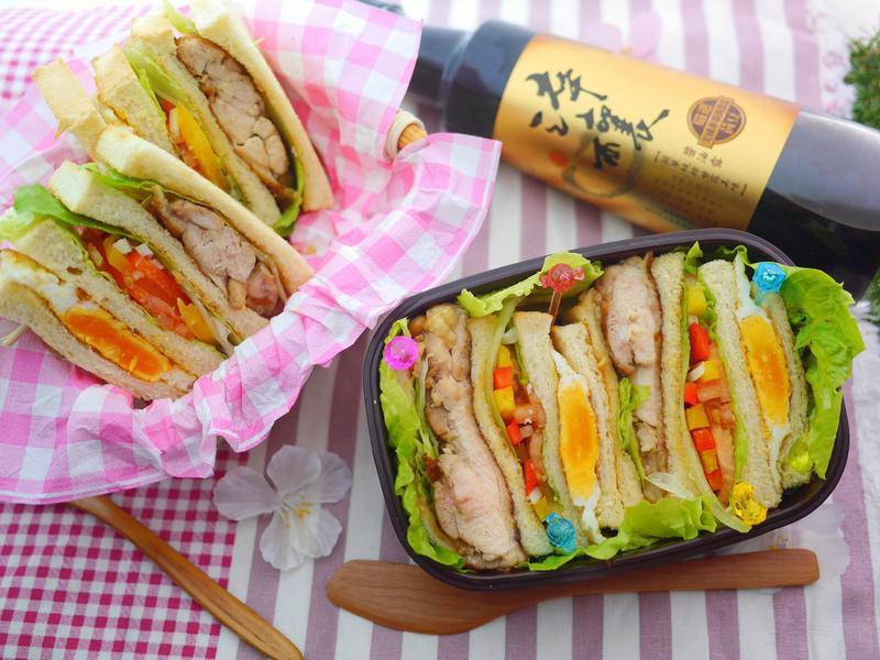 烤雞彩蔬三明治