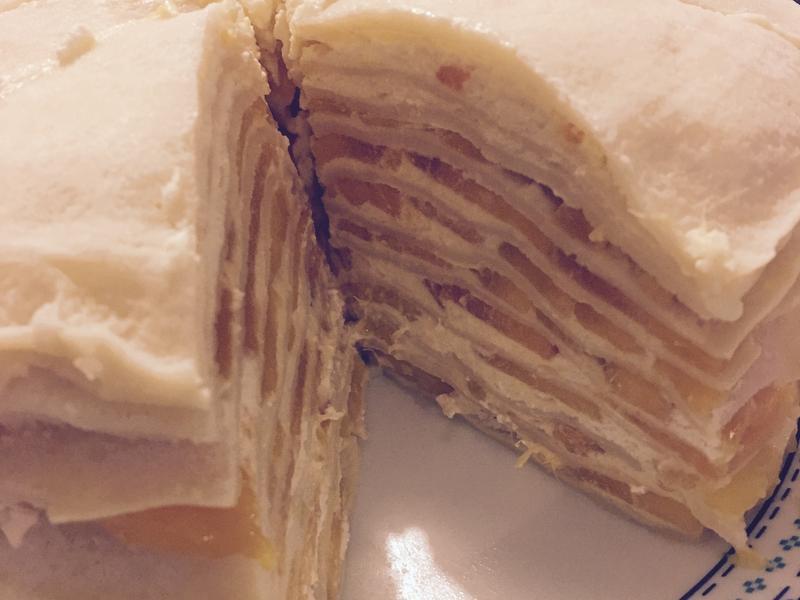 椰香芒果千層蛋糕