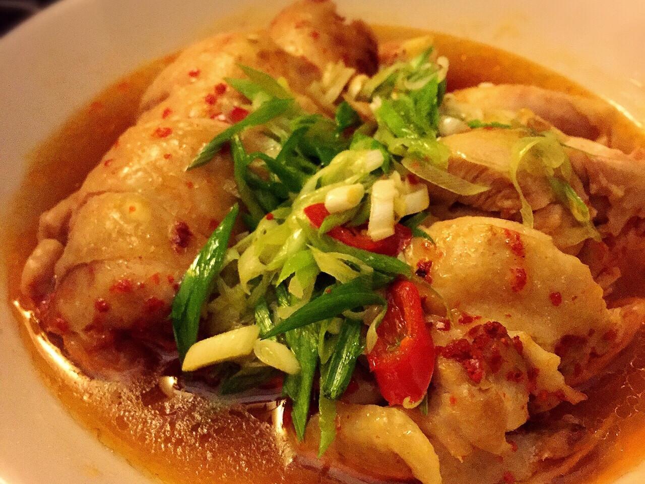 電鍋料理:韓式辣椒油蒜雞