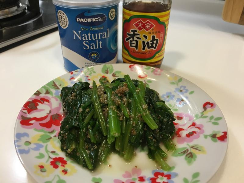 涼拌紅蔾菠菜