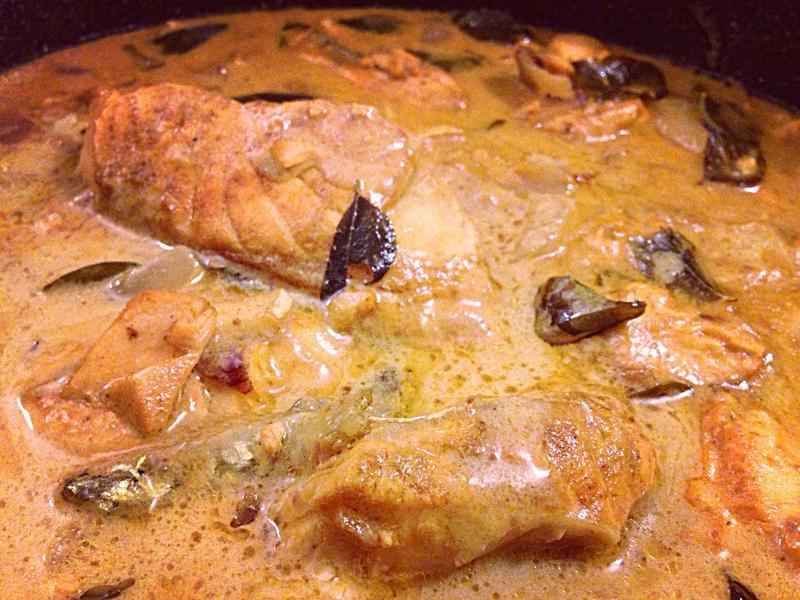印度椰香鮭魚咖哩