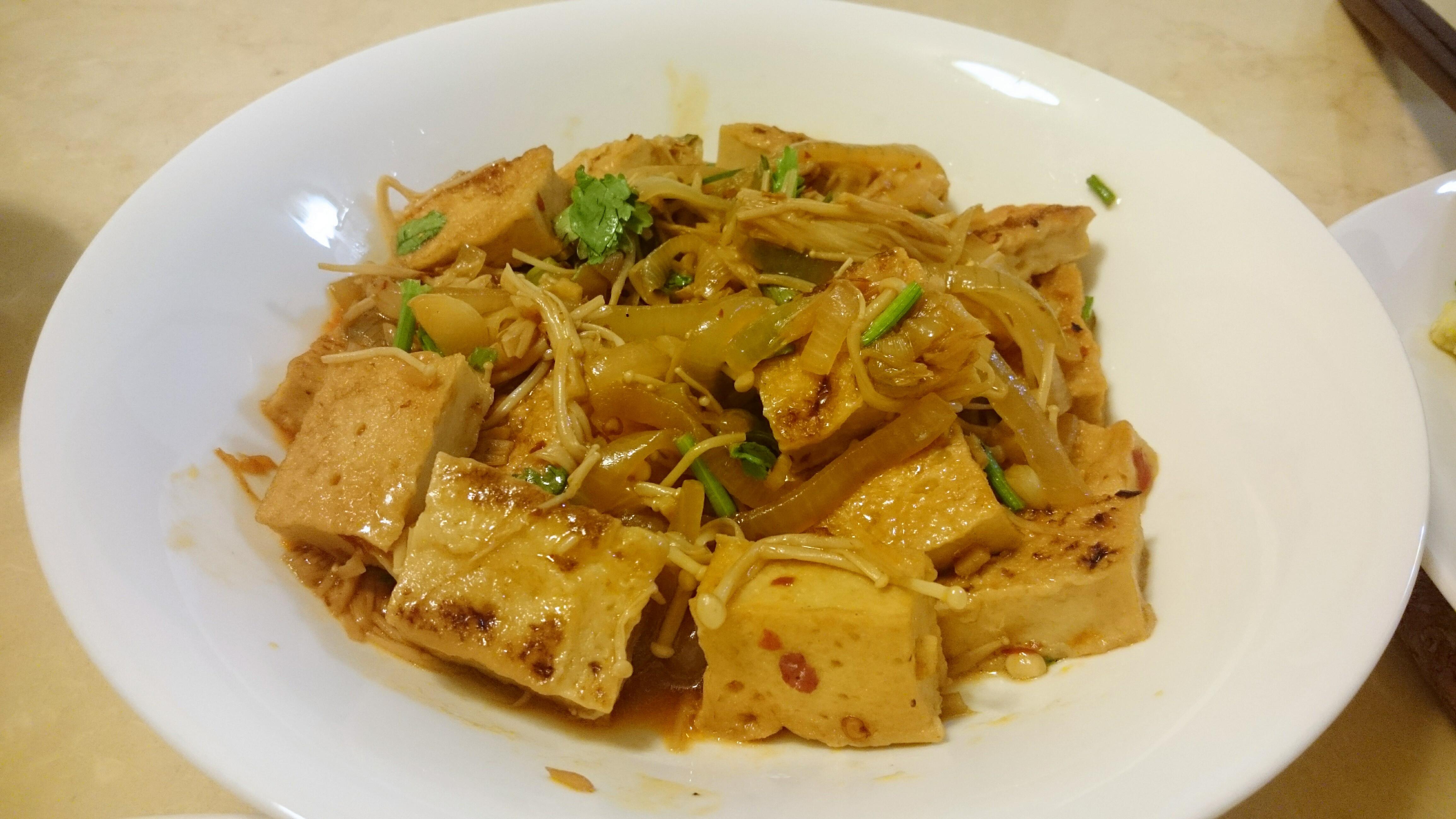 [豆腐]香根金針菇百葉