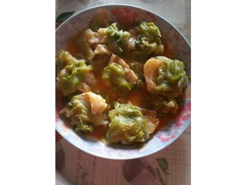 西生菜伴香煎石斑魚柳