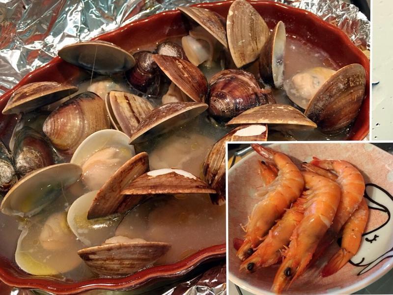 啤酒蝦蛤蜊~烤箱、微波都省事,一會兩道菜