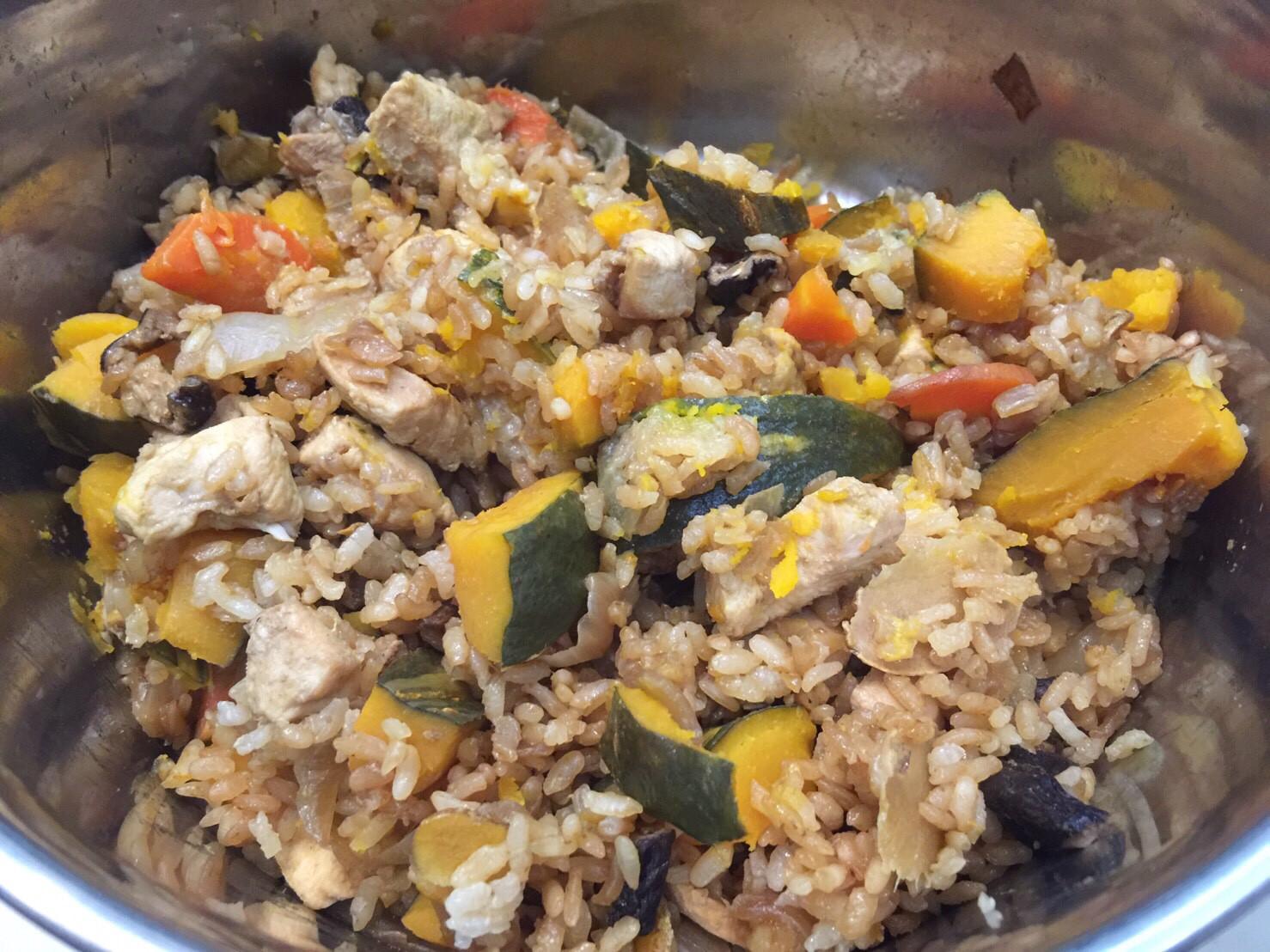 南瓜雞肉香菇燉飯